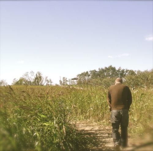 Josh in field