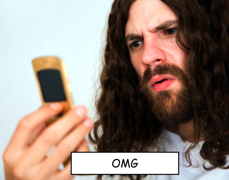Jesus on phone